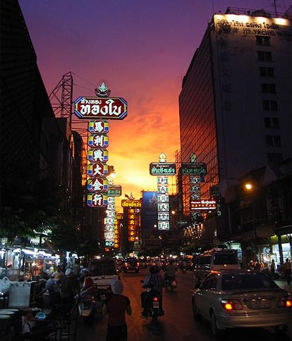 Chinatown Bangkok by night