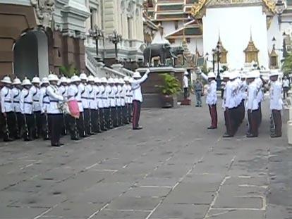 Changing of the Guard at Bangkok Royal Palace