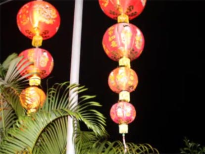 Lanterns for Chinese New Year in Hat Yai
