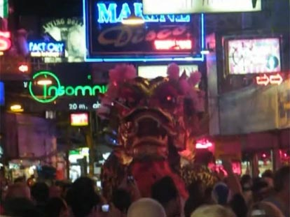 Dragon at Chinese New Year celebration in Pattaya