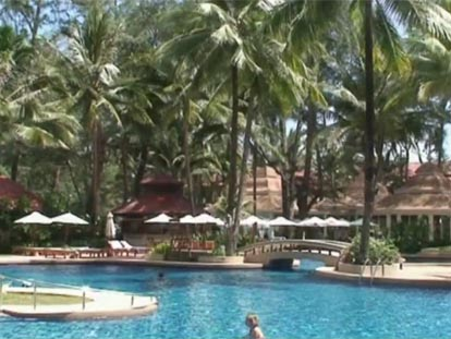 Pool area at Phuket Dusit Thani Laguna resort