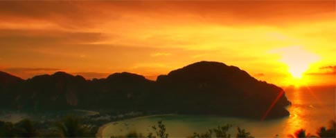 Glorious sunset over Koh Phi Phi, Krabi