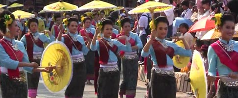 Dancers in Udon Thani Street Festival